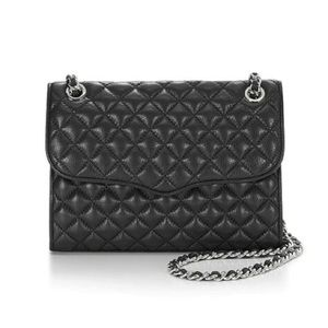 Rebecca Minkoff LARGE Quilted Affair Black SILVER